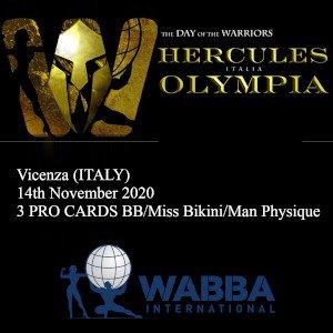 Locandina Hercules Italy 2020